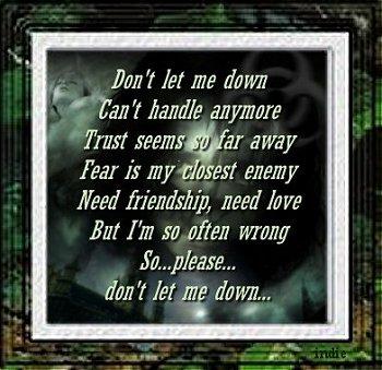 Don'tletmedown